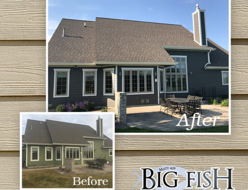 LP Smartside: Quite Willow Siding: Cameo Trim: Diamond Kote Shake: Hartland,WI
