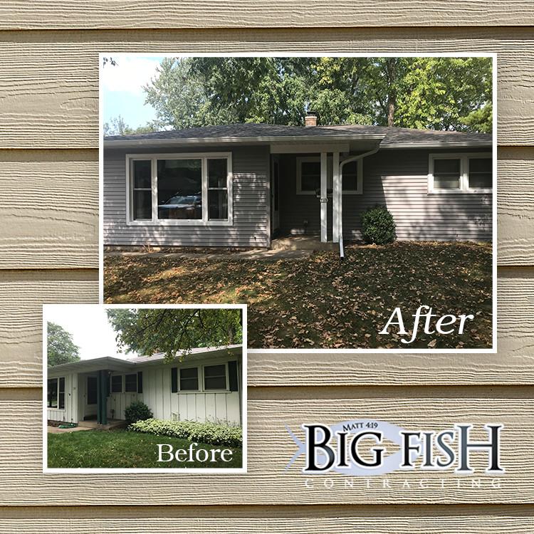 Mastic Vinyl Siding Harbor Grey Hartland Wi Big Fish Contracting Roofing Contractors And