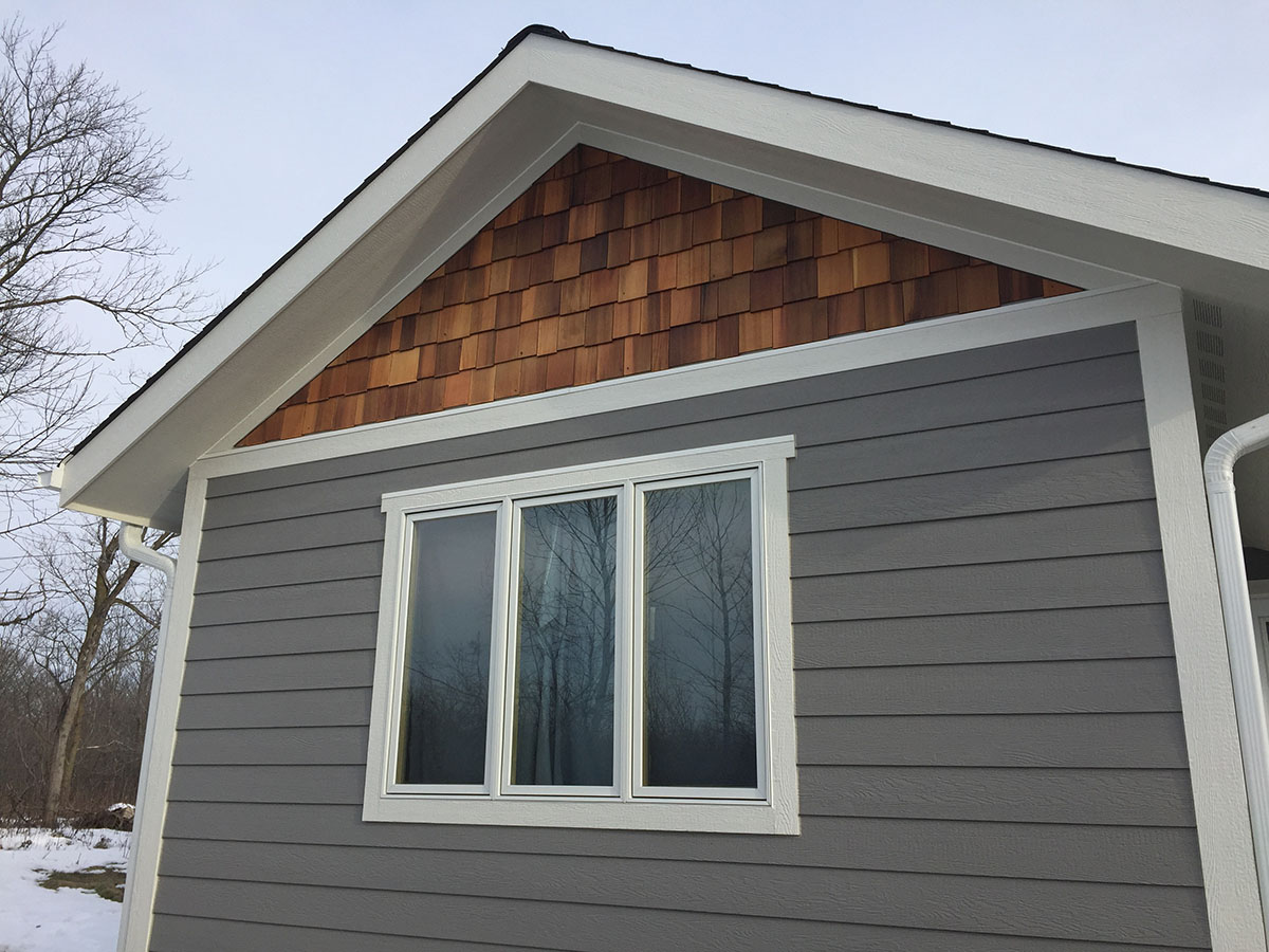 Lp Smartside Victorian Grey Siding White Trim Shakertown Gables Big Fish Contracting
